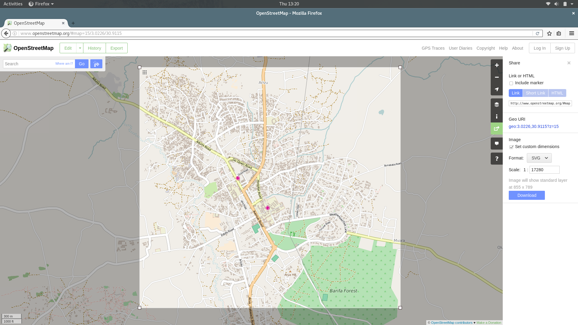 """Screenshot from osm.org"""