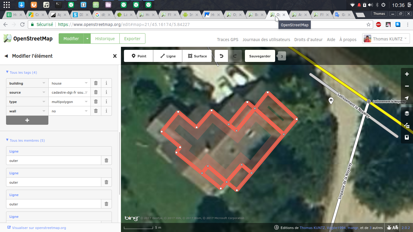 house mapped as multipolygon