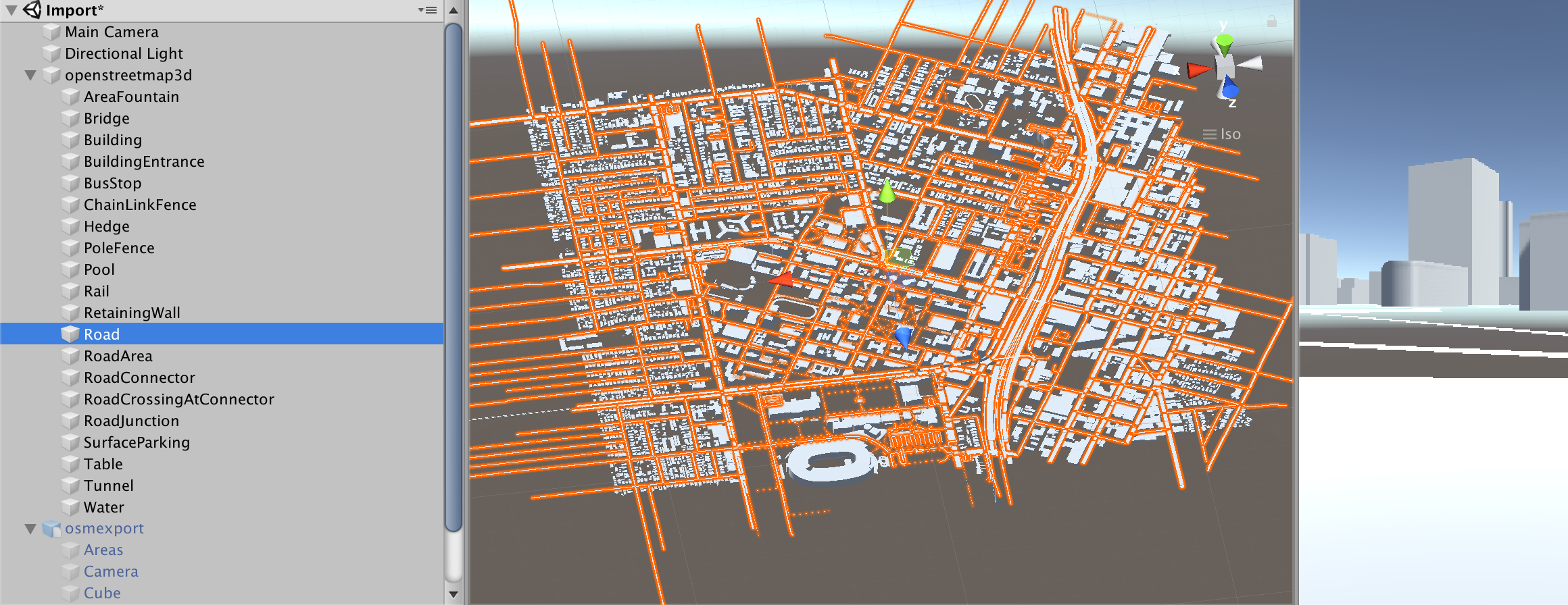 Persisting street and building IDs during export (to 3D format - OBJ