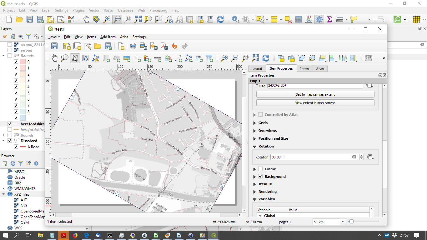 rotating a map canvas in QGIS