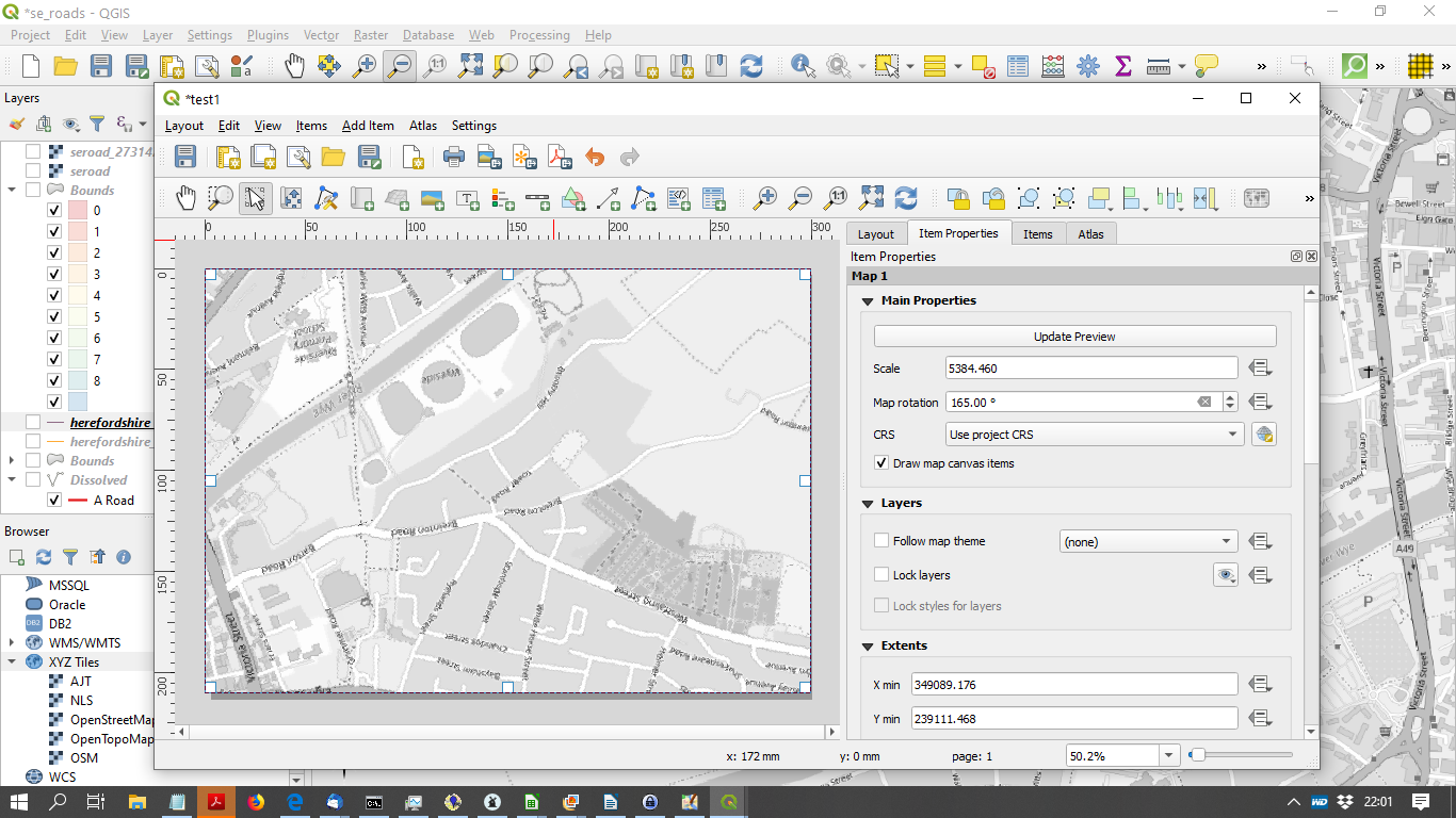 rotating a map within a canvas in QGIS