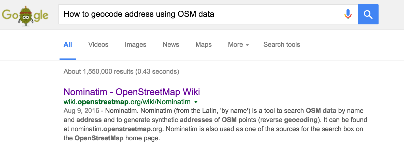 How to geocode address? - OSM Help