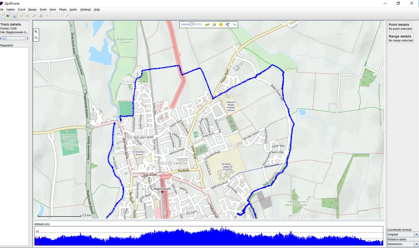 create image of map and route on a mac (view osm data and import kml