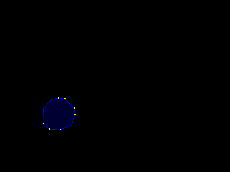 Outline of the water polygon