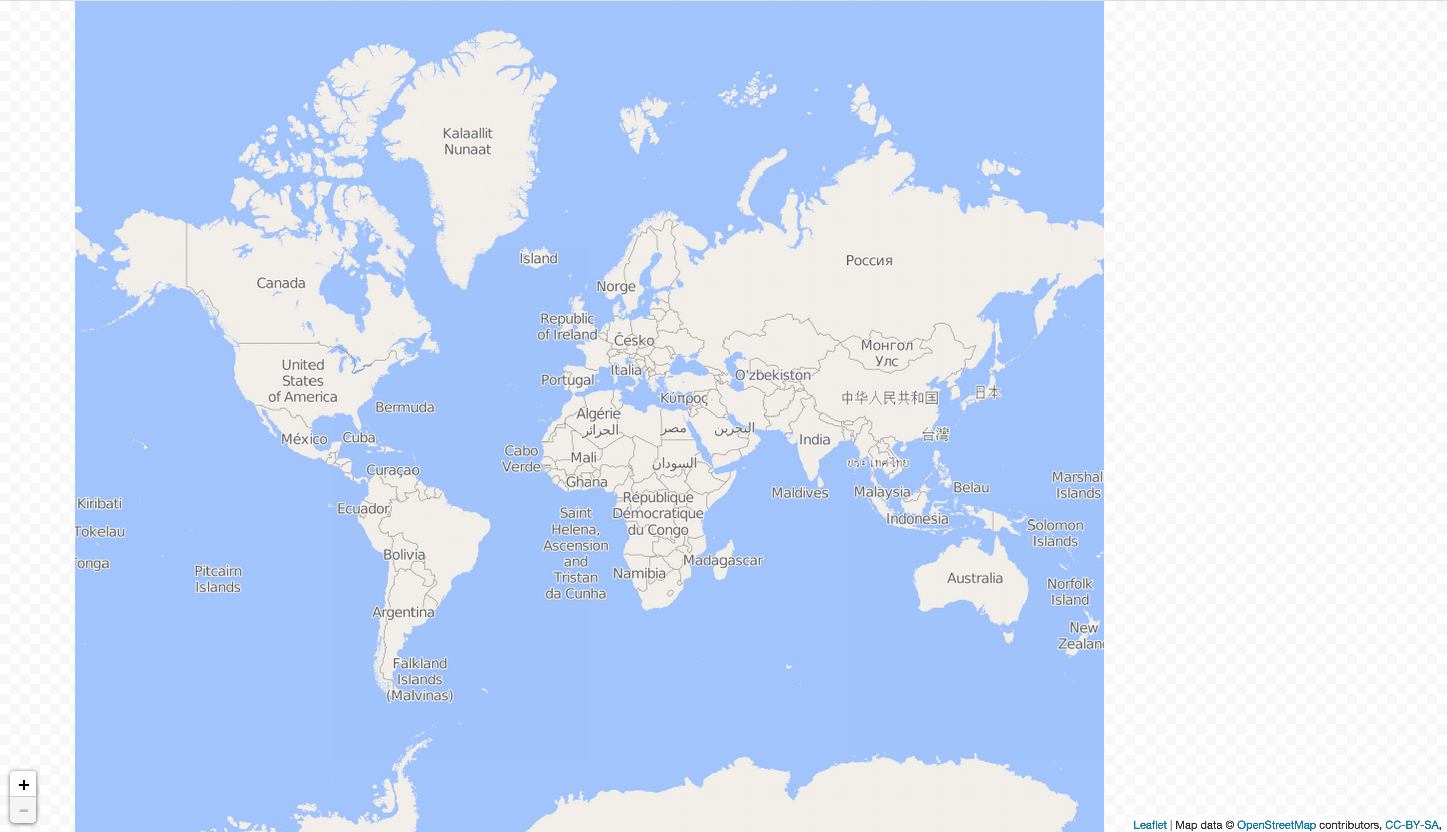 Full Map Of The World.How To Fit World Map In Full Screen Osm Help