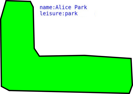 Closed polygon representing a park
