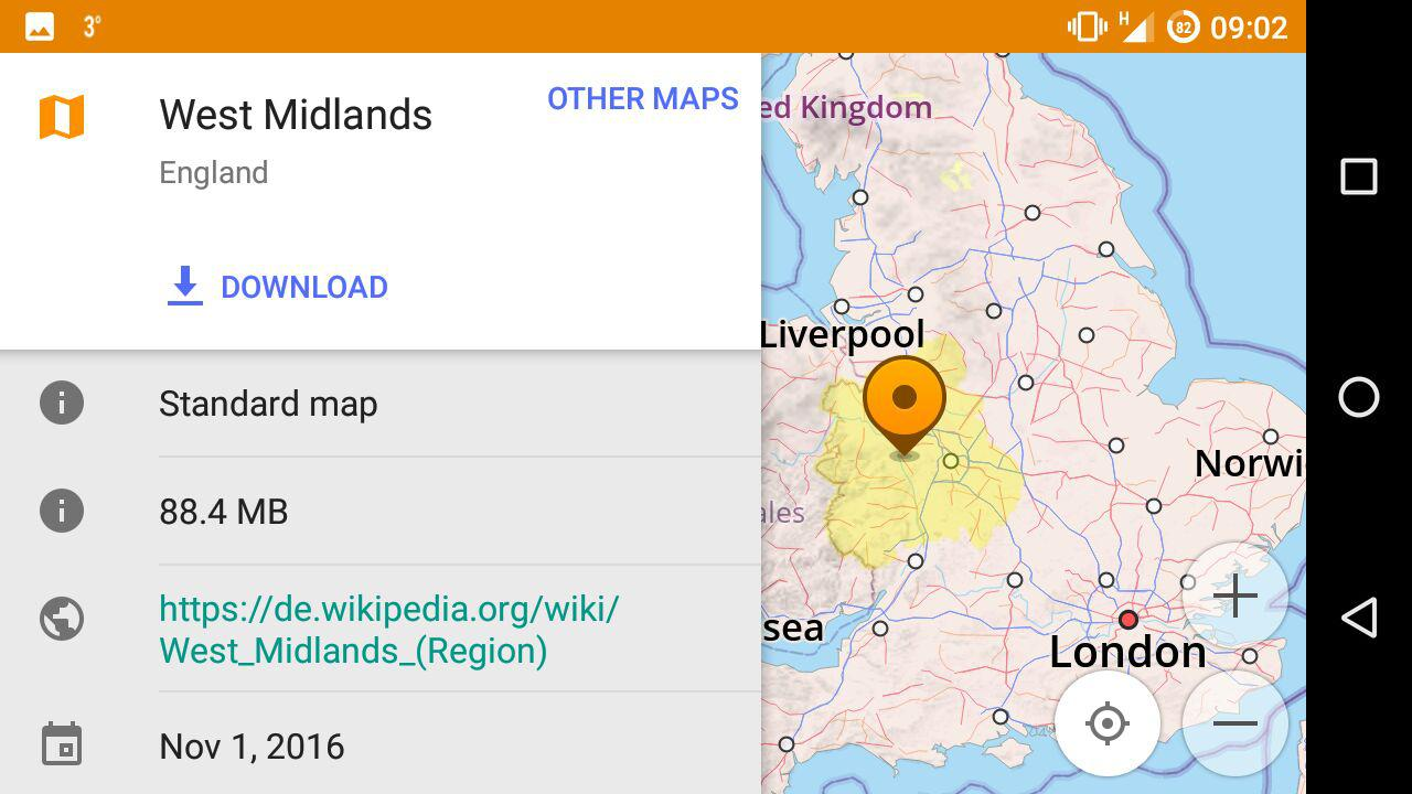 osmand map download popup. list of uk maps coverage areas  osm help