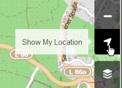 Small picture showing the show my location button